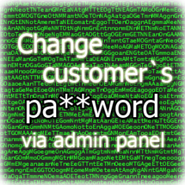 Set or update customer password via admin panel for Magento 2